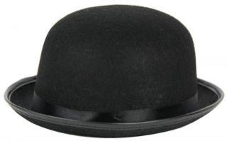 Melone schwarz Filz Hut Charlie Chaplin Bowler Hut Hat Fasching