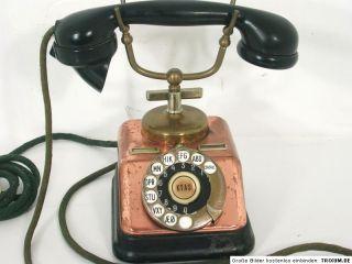 Uraltes Telefon,Kupfer/Messing,um 1930,Dänemark