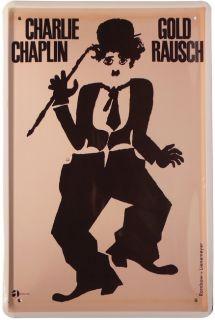 Charlie Chaplin   Goldrausch 20 x 30 Metallschild 229