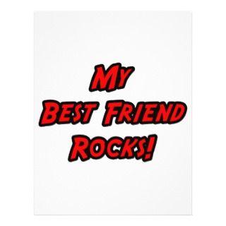 My Best Friend Rocks Personalized Flyer