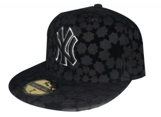 NEW NY New York Black Star Baseball Cap 7 1/2