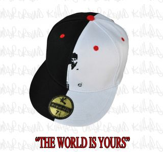 Scarface Tony Montana The World Is Yours White/black fitted Cap 7 3