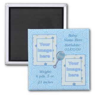 Baby Boy Birth Announcement Magnet