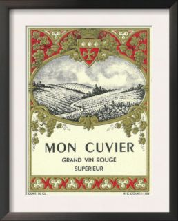 Mon Cuvier Wine Label   ope Art