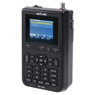 NEW SATlink WS 6906 3.5LCD DVB S FTA Data Digital Satellite Signal