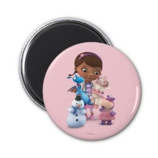 Doc McStuffins and Her Animal Friends Fridge Magnet
