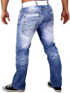 254 RUSTY NEAL DESIGNER USED OPTIK JEANS HOSE UVP 149€