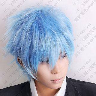 254 Kurokos Basketball Kuroko Tetsuya Ice Blue Cosplay Short Wig