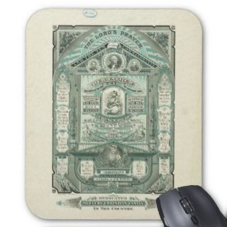 The Lords Prayer and the Ten Commandments Mouse Pads