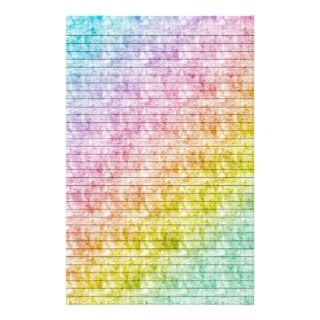 Rainbow Colors Stationery w/ Optional Lines