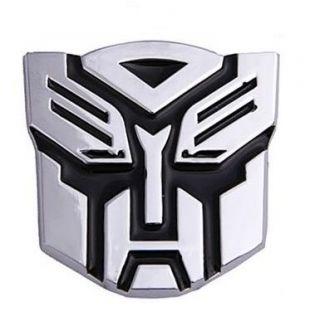 Metall Auto Aufkleber Chrom Emblem Transformers Silber 3D Autobots Car