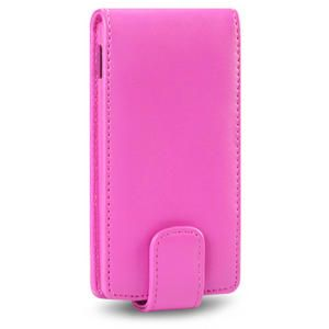 Premium PU Leather Flip Case Cover For Sony Xperia U Black,Pink,Purple
