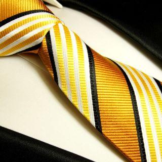 Goldene Krawatte XL 165cm extra lang Seidenkrawatte 264