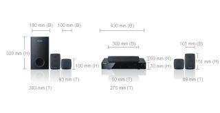 Samsung HT Z220 5.1 Kanal Heimkinosystem mit DVD (850 Watt, 1080p