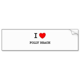 Love Folly Beach South Carolina Bumper Sticker