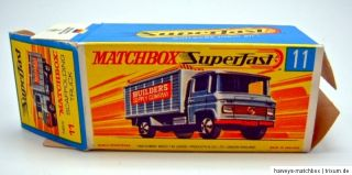 Matchbox Superfast 11A Scaffolding Truck leere originale Box
