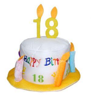 Happy Birthday Hut 18. Geburtstag Party Dekoration Jahrestag