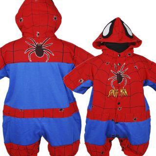 D267 Spiderman Baby Boys Romper One Piece Outfits Fancy Costume