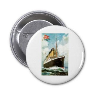 RMS TSS Titanic Passenger Ship Button