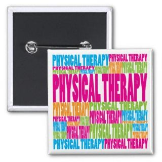 Colorful Physical Therapy Pinback Button