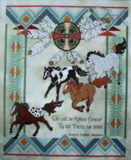 DAKOTA INDIAN WISDOM, Cross Stitch Pattern, SOUTHWEST COLORS, HORSES