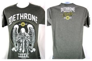 Ben Henderson UFC Dethrone Royalty Smooth Angel Charcoal Gray T shirt