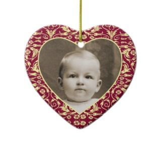 Heart Shaped Photo Frame Floral Ornament