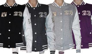 23 Sexy Damen College Jacke Pullover Pulli Sweater mit Druckknöpfen