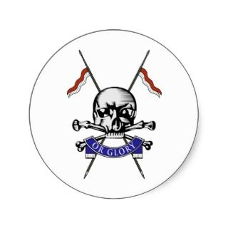 Queens Royal Lancers Round Stickers