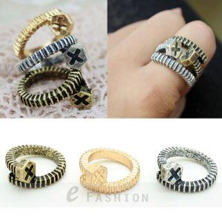 Ring bunt Eule Style 1 Fingerring Strass Damen Ringe NEU 102 0102
