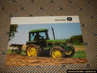 Orig. John Deere Traktor 2040S Prospekt 198?