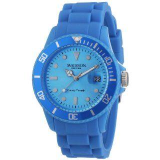 Madison New York Unisex Armbanduhr Candy Time Analog Silikon blau