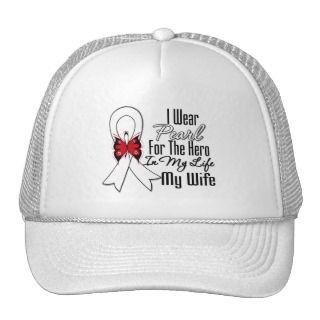 Lung Cancer Ribbon Hero My Wife Trucker Hat