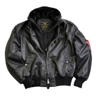 Alpha Industries Flight Jacket MA 1 D Tec Faux Leather