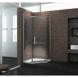 Glas 90 x 90 x 195 cm PENTAGONO ohne Duschtasse: Baumarkt