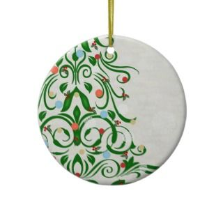 Swirly Christmas Tree Ornament