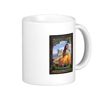 Wolf Indian Maiden Mug