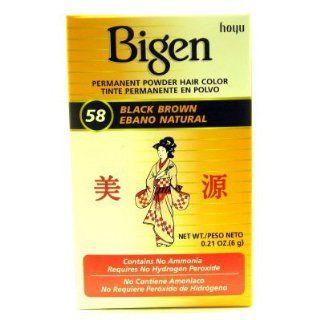 Bigen Powder Hair Color #58 Black Brown 6 ml (Haarfarbe)