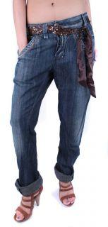 Miss Sixty Damen Jeans Hose Blau Baggy Futurama W25 W31 / L34 #11
