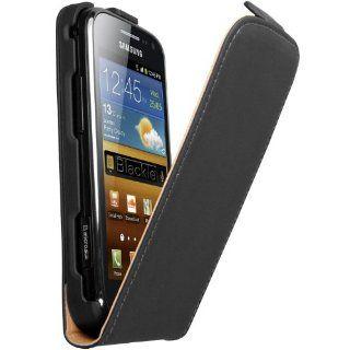 mumbi PREMIUM ECHT Leder Flip Case Samsung Galaxy Ace 2