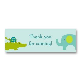 Mod Safari Jungle Animal Party Favor Gift Tags business cards by