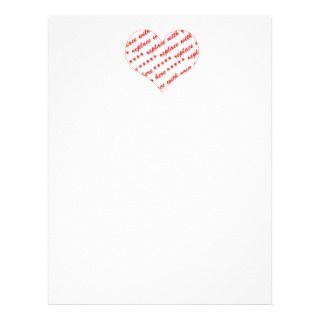 Basic White Heart Shaped Photo Frame Custom Flyer