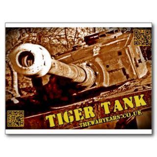 German Tiger I Tank: 88mm Gun Postcard