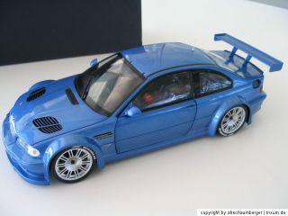 BMW M3 GTR estorilblau 118 Minichamps 80430302540 NEU