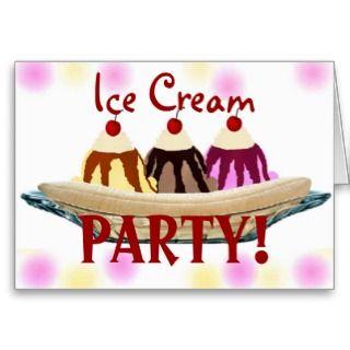 Ice Cream Party, Invitation Card