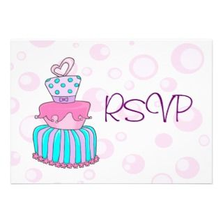 Whimsical Wedding Cake 2 (RSVP) Invites
