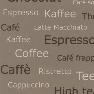 Vliestapete Braun Beige Dunkel Vlies Tapete Küche Home Cafe Latte