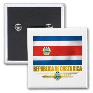 Costa Rica Pride Gift Ideas Pinback Button