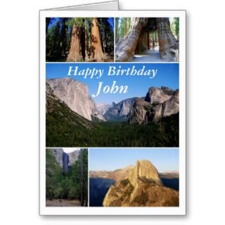 John Happy Birthday, Yosemite National Park Greeting Card