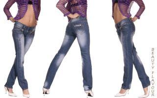 SeXy Designer Jeans Miss Rosina LowCut Hose NEU Blau